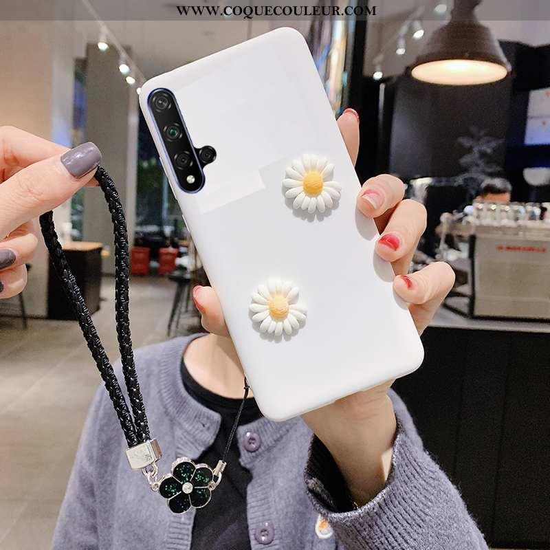 Housse Honor 20 Fluide Doux Téléphone Portable Amoureux, Étui Honor 20 Silicone Légère Blanche