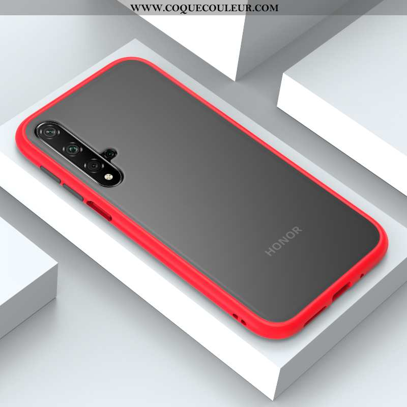 Coque Honor 20 Protection Vent Clair, Housse Honor 20 Tendance Rouge