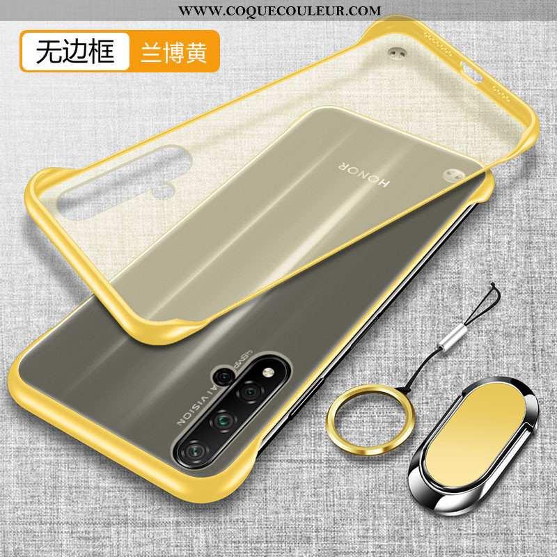 Coque Honor 20 Protection Téléphone Portable Légère, Housse Honor 20 Transparent Simple Jaune