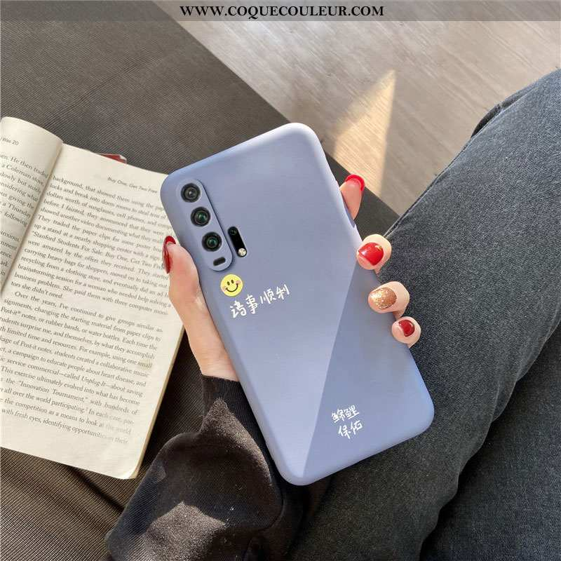 Étui Honor 20 Pro Légère Téléphone Portable Tendance, Coque Honor 20 Pro Silicone Bleu