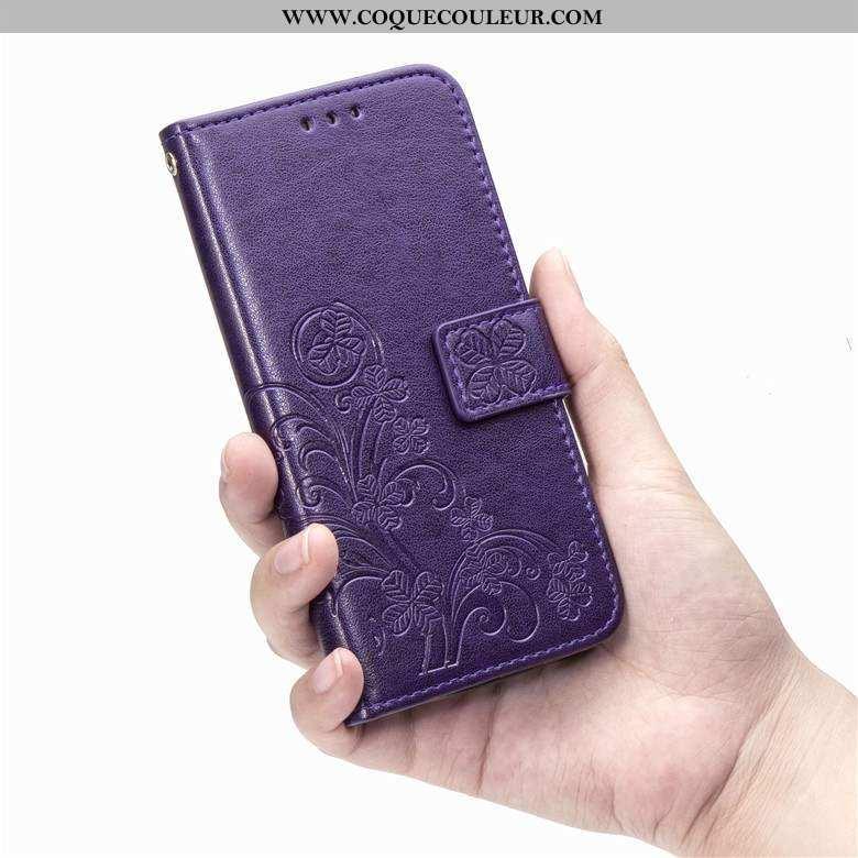 Housse Honor 20 Pro Fluide Doux Cuir Téléphone Portable, Étui Honor 20 Pro Protection Violet