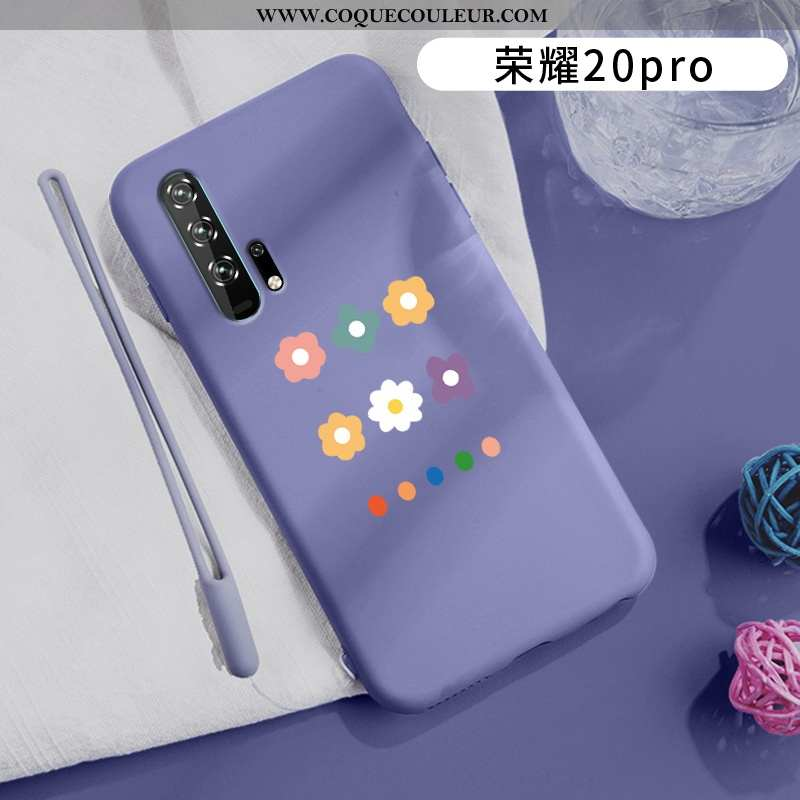 Coque Honor 20 Pro Ultra Ornements Suspendus Incassable, Housse Honor 20 Pro Légère Violet