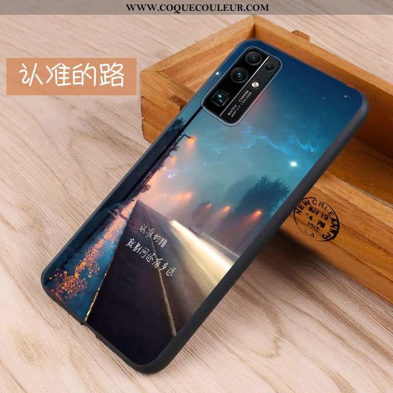 Étui Honor 30 Silicone Téléphone Portable Étui, Coque Honor 30 Tendance Fluide Doux Bleu