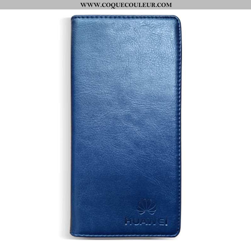 Coque Honor 30 Cuir Incassable Bleu Marin, Housse Honor 30 Protection Tout Compris Bleu Foncé