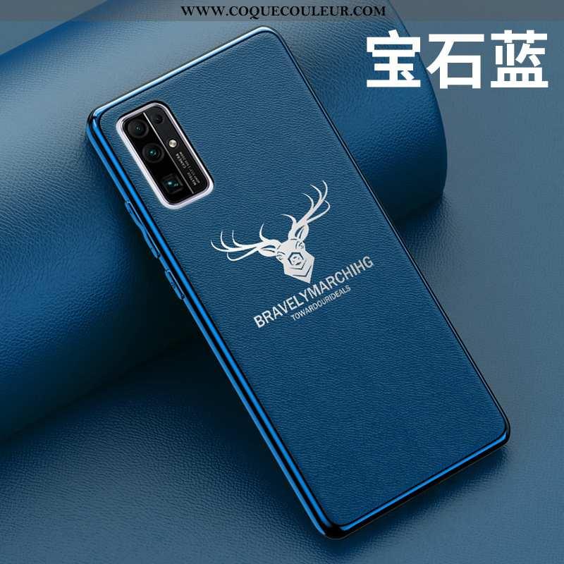 Étui Honor 30 Fluide Doux Protection Tout Compris, Coque Honor 30 Silicone Ultra Bleu