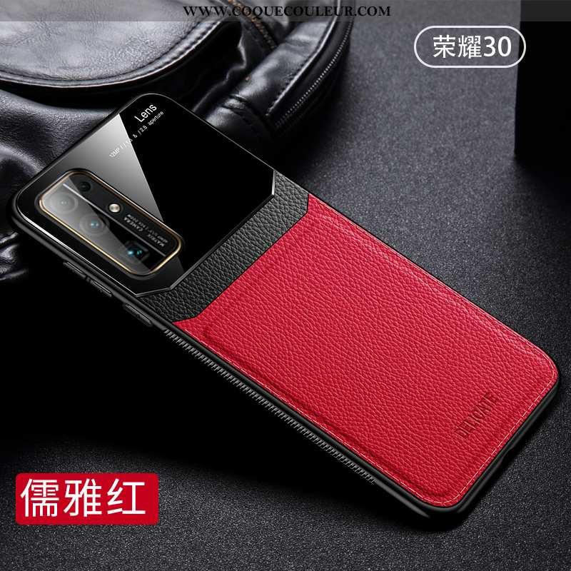 Coque Honor 30 Fluide Doux Téléphone Portable Rouge, Housse Honor 30 Silicone Tout Compris Rouge