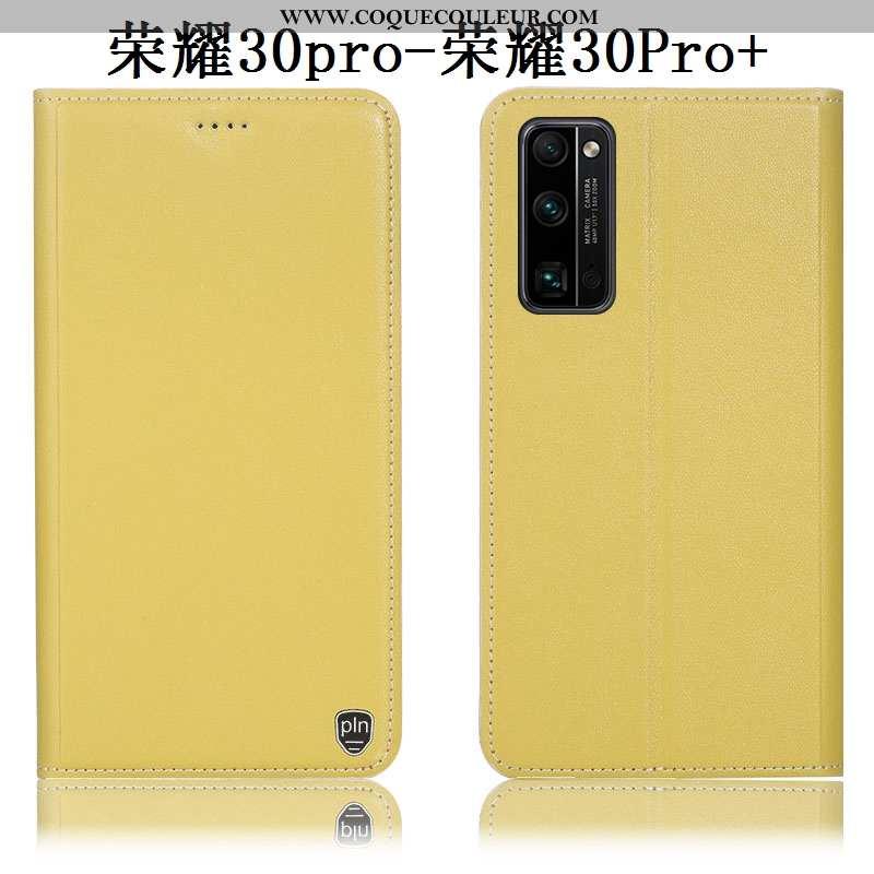 Housse Honor 30 Pro Modèle Fleurie Téléphone Portable Incassable, Étui Honor 30 Pro Protection Jaune