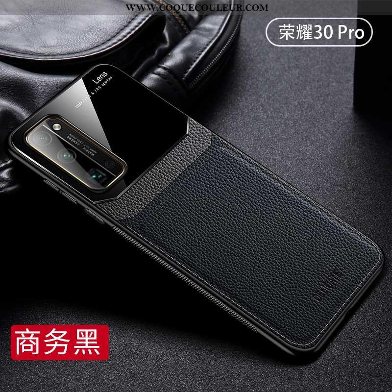 Étui Honor 30 Pro Cuir Téléphone Portable Étui, Coque Honor 30 Pro Silicone Noir