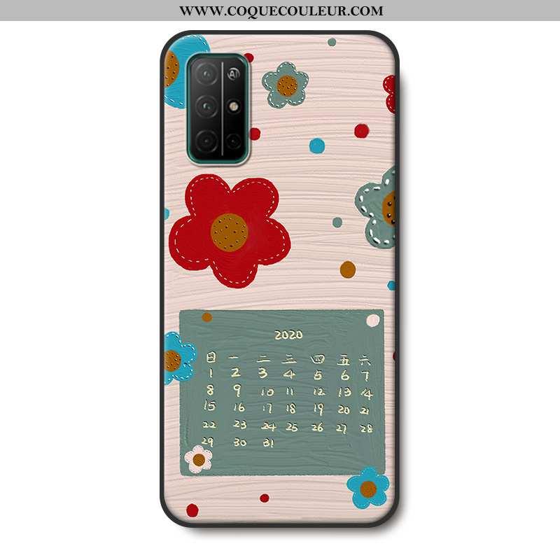 Housse Honor 30s Fluide Doux Protection Étui, Étui Honor 30s Silicone Téléphone Portable Beige