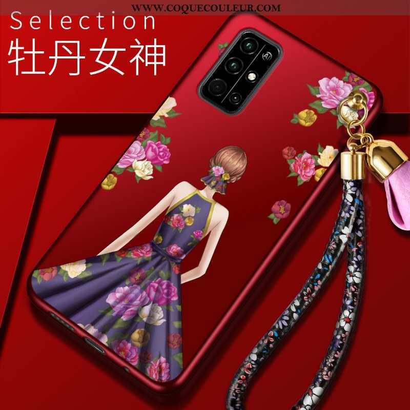 Étui Honor 30s Mode Charmant, Coque Honor 30s Protection Téléphone Portable Rouge