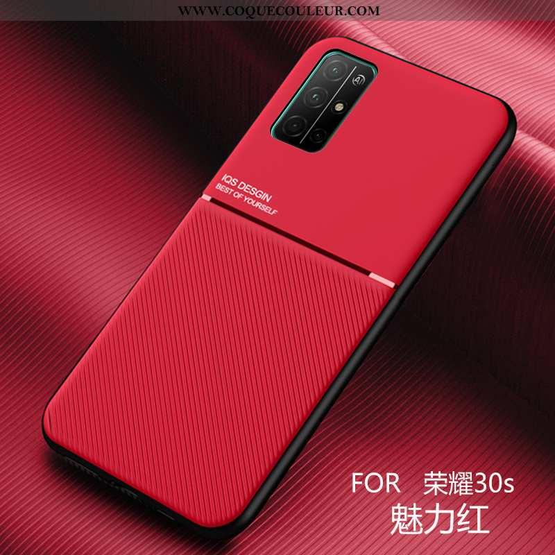 Housse Honor 30s Modèle Fleurie Ultra Coque, Étui Honor 30s Fluide Doux Téléphone Portable Rouge