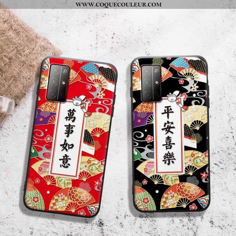 Coque Honor 30s Protection Téléphone Portable Coque, Housse Honor 30s Gaufrage Dimensionnel Rouge