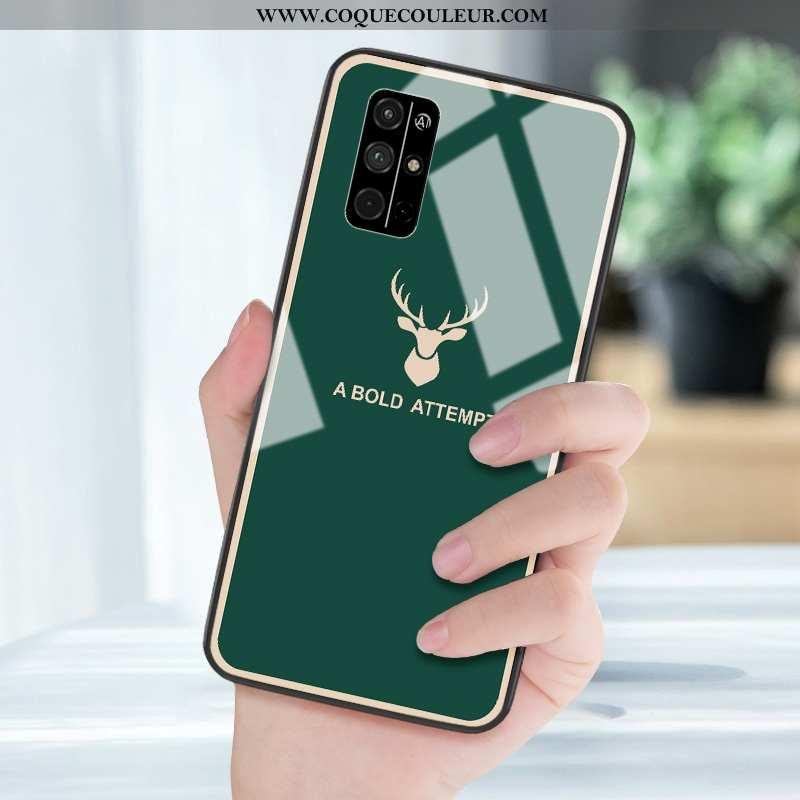 Housse Honor 30s Tendance Vert Étui, Étui Honor 30s Silicone Téléphone Portable Verte