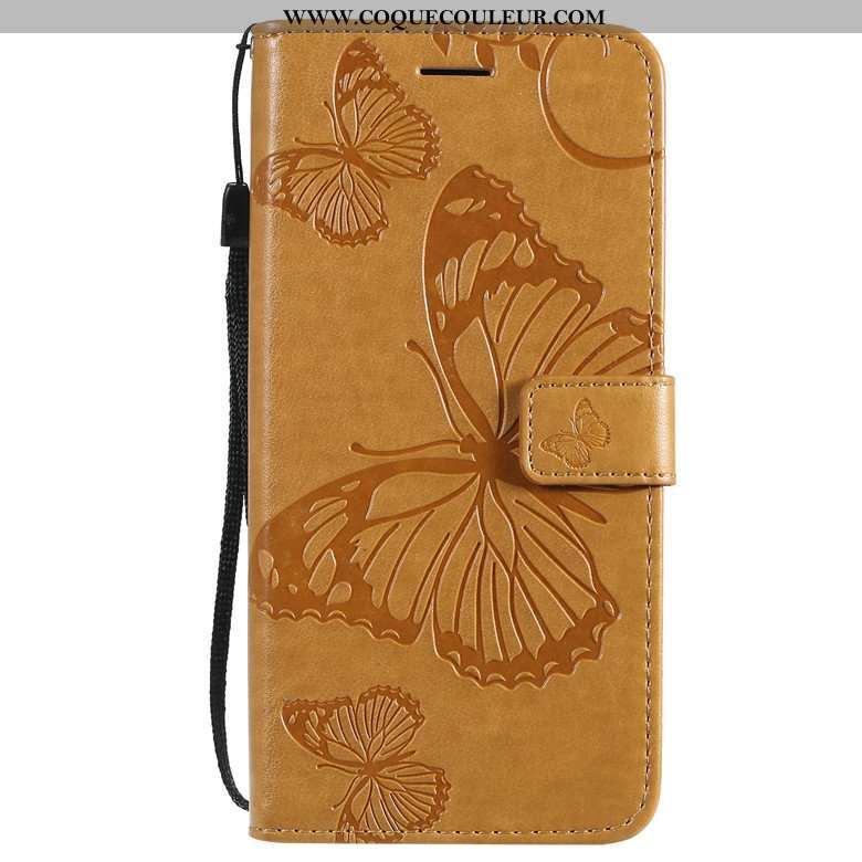 Étui Honor 9x Protection Silicone Incassable, Coque Honor 9x Cuir Téléphone Portable Jaune