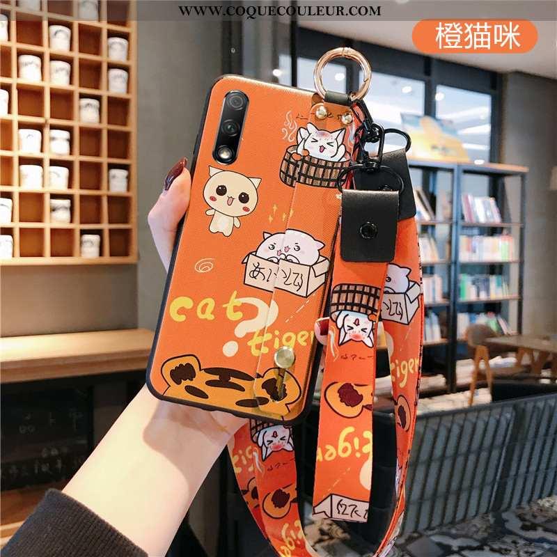 Étui Honor 9x Fluide Doux Coque Téléphone Portable, Honor 9x Mode Créatif Orange