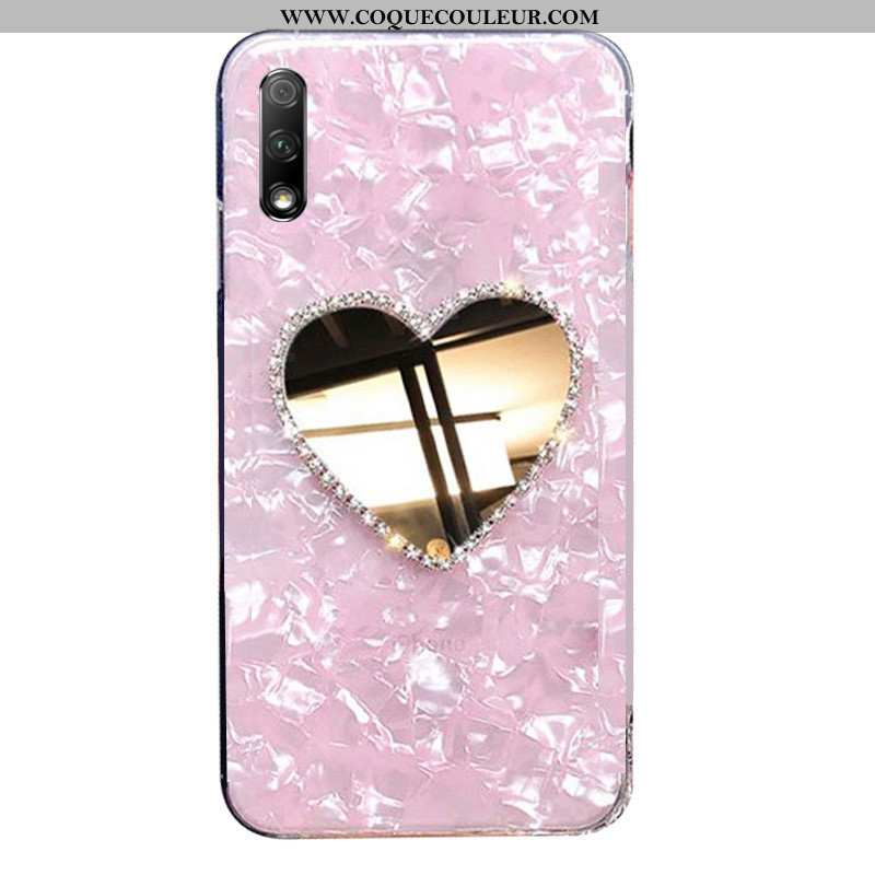 Coque Honor 9x Fluide Doux Rose Incruster Strass, Housse Honor 9x Silicone Tendance
