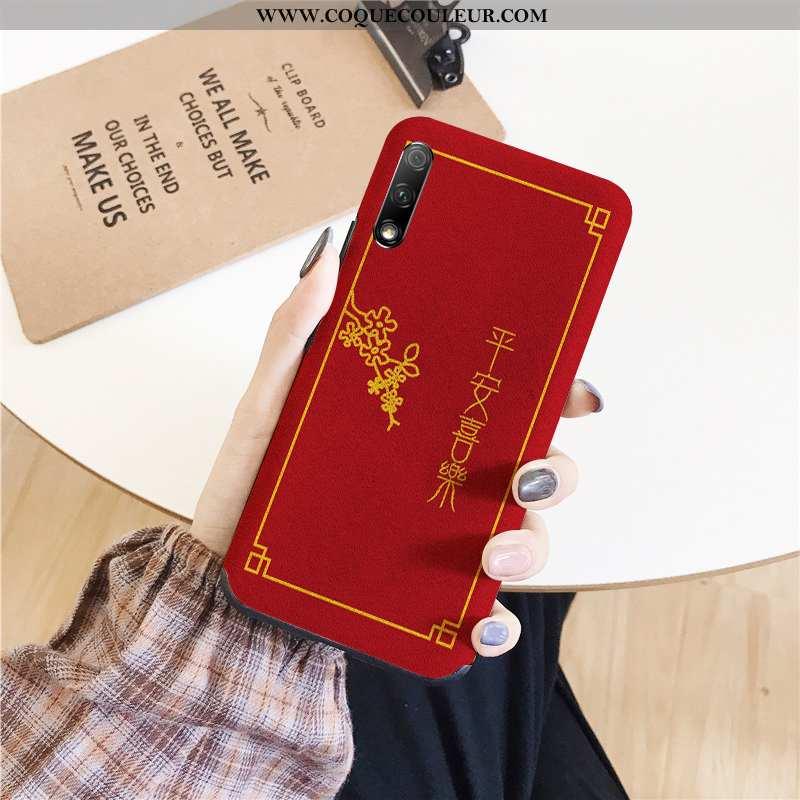 Housse Honor 9x Silicone Amoureux Téléphone Portable, Étui Honor 9x Tendance Nouveau Rouge