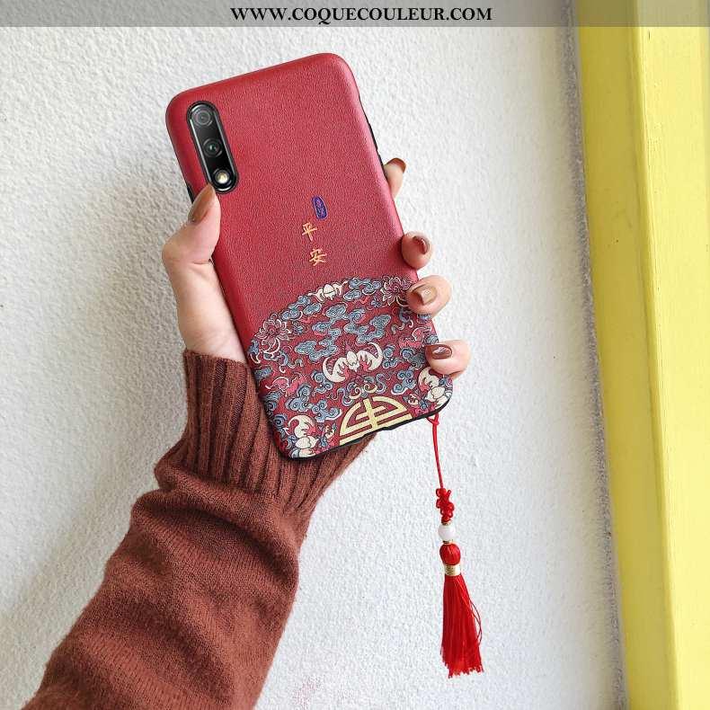 Coque Honor 9x Tendance Gaufrage Nouveau, Housse Honor 9x Fluide Doux Téléphone Portable Rouge