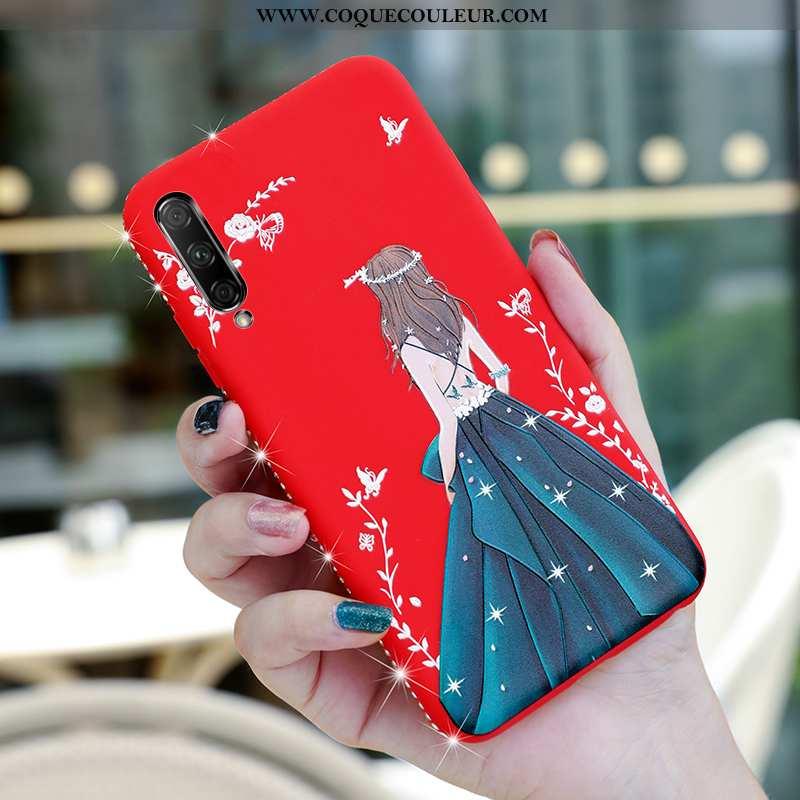 Étui Honor 9x Pro Silicone Coque Téléphone Portable, Honor 9x Pro Protection Fluide Doux Rouge