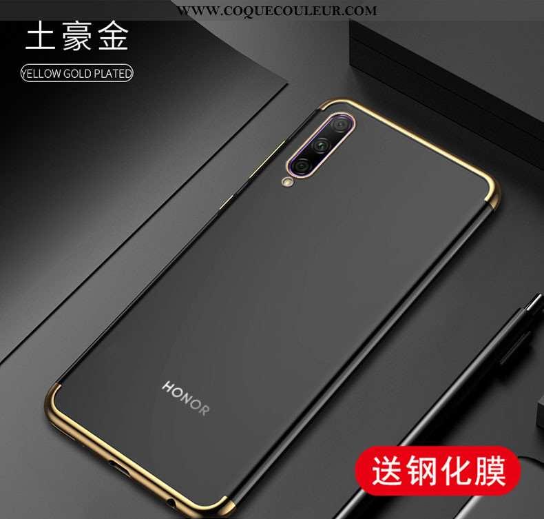 Housse Honor 9x Pro Transparent Téléphone Portable Or, Étui Honor 9x Pro Légère Protection Doré