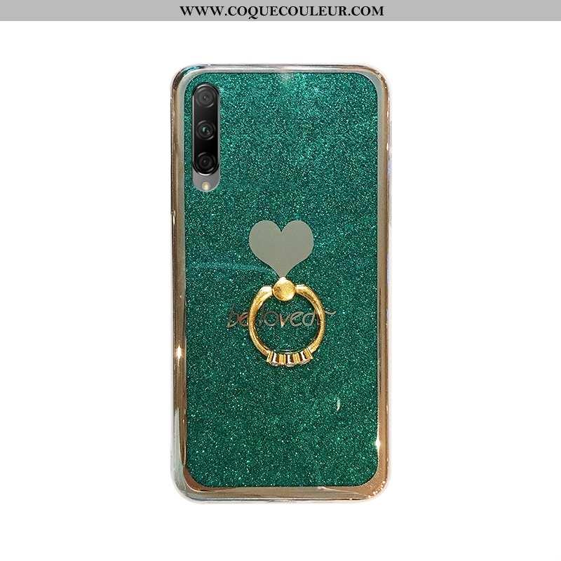 Coque Honor 9x Pro Protection Vert Placage, Housse Honor 9x Pro Tendance Téléphone Portable Verte