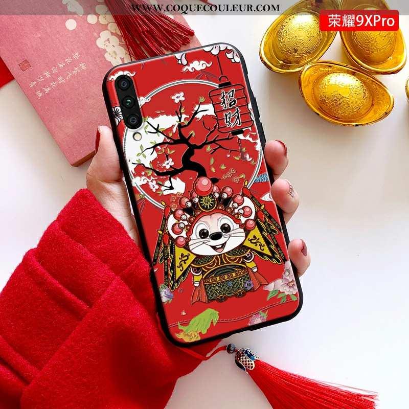 Étui Honor 9x Pro Tendance Dimensionnel Téléphone Portable, Coque Honor 9x Pro Fluide Doux Jeunesse