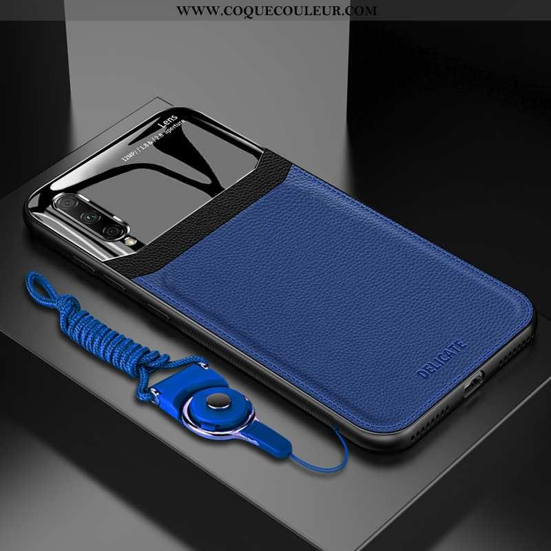 Housse Honor 9x Pro Tendance Coque Incassable, Étui Honor 9x Pro Cuir Verre Bleu