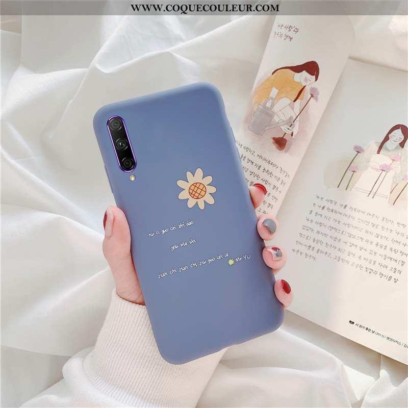 Étui Honor 9x Pro Fluide Doux Protection Bleu, Coque Honor 9x Pro Silicone Délavé En Daim Bleu