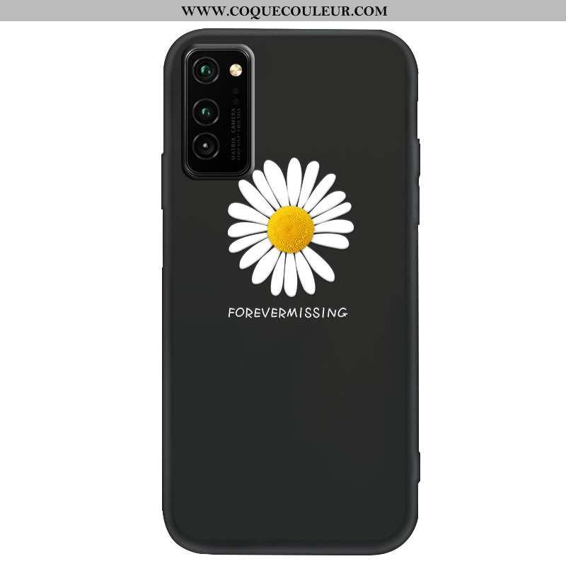 Coque Honor View30 Protection Noir, Housse Honor View30 Délavé En Daim Téléphone Portable Noir