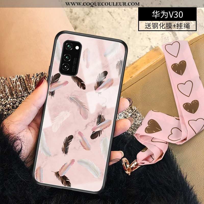 Étui Honor View30 Protection Coque Personnalité, Honor View30 Luxe Ultra Rose