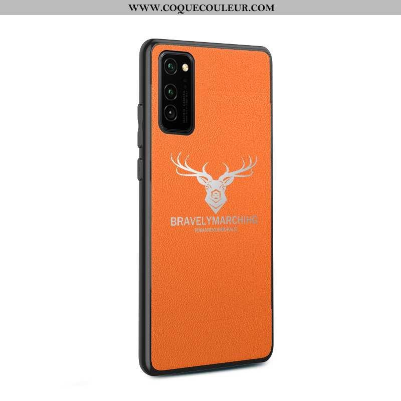 Étui Honor View30 Fluide Doux Coque Incassable, Honor View30 Silicone Cuir Orange