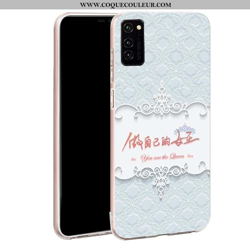 Étui Honor View30 Protection Téléphone Portable Silicone, Coque Honor View30 Tendance Bleu