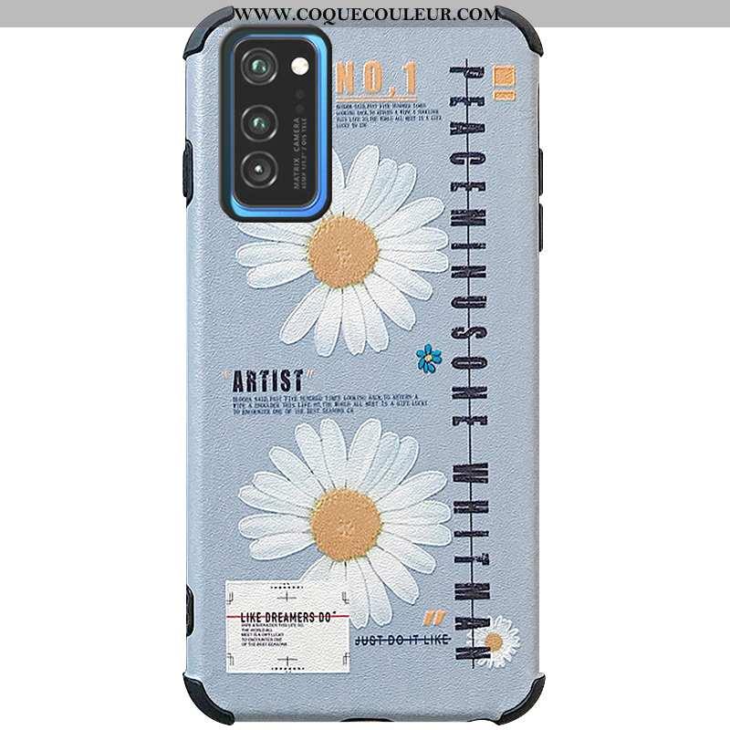 Étui Honor View30 Fluide Doux Coque Téléphone Portable, Honor View30 Dessin Animé Tout Compris Bleu