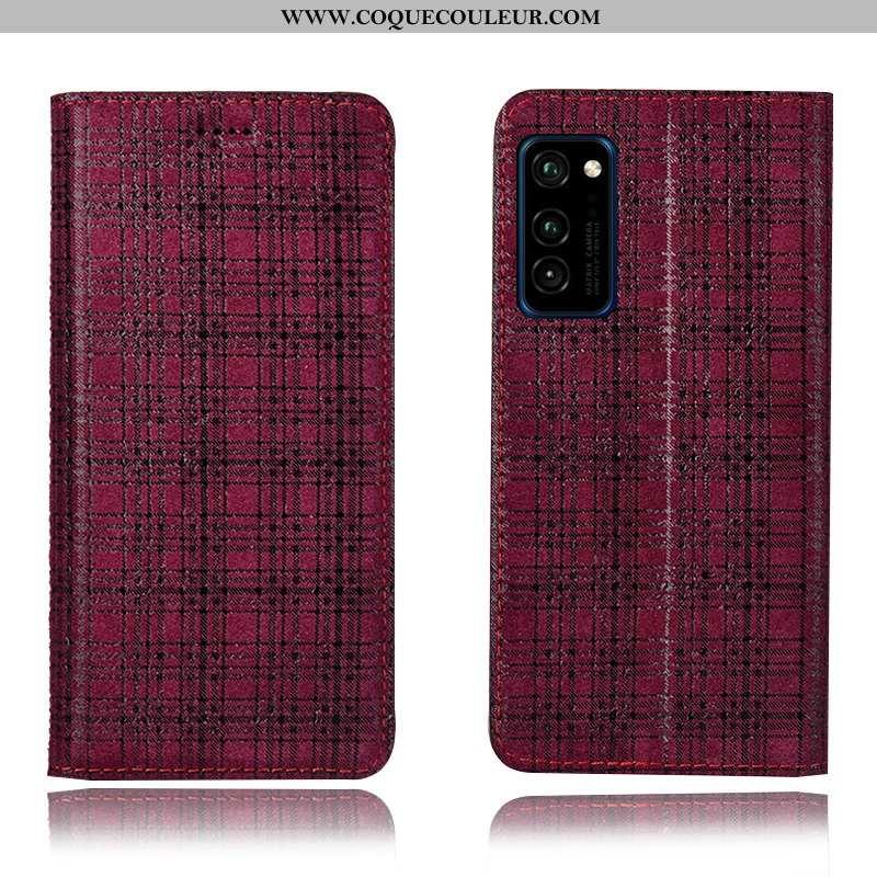 Coque Honor View30 Pro Cuir Véritable Tout Compris Téléphone Portable, Housse Honor View30 Pro Modèl
