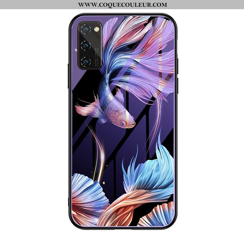 Coque Honor View30 Pro Protection Support Personnalité, Housse Honor View30 Pro Luxe Verre Violet