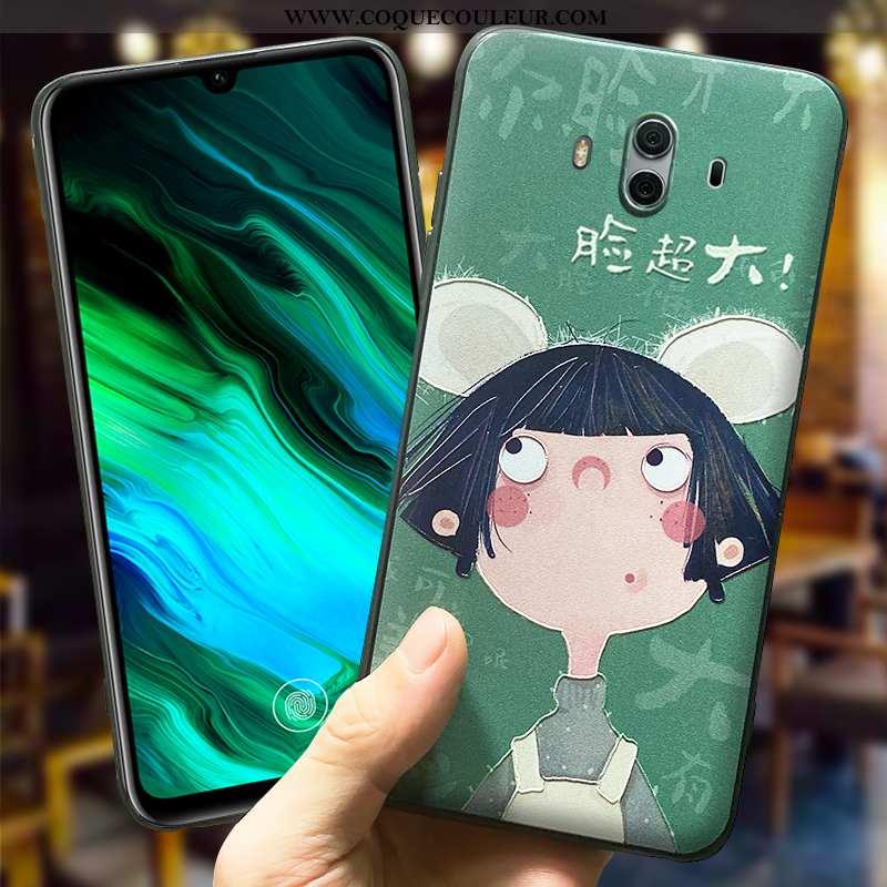 Coque Huawei Mate 10 Protection Étui Cœur, Housse Huawei Mate 10 Délavé En Daim Téléphone Portable V