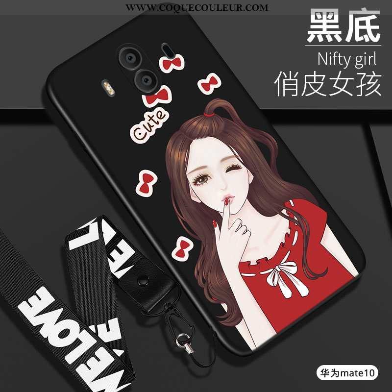 Coque Huawei Mate 10 Fluide Doux Tout Compris, Housse Huawei Mate 10 Silicone Étui Noir