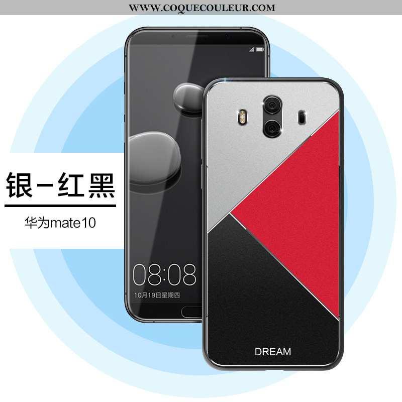 Étui Huawei Mate 10 Créatif Silicone Métal, Coque Huawei Mate 10 Ultra Argent