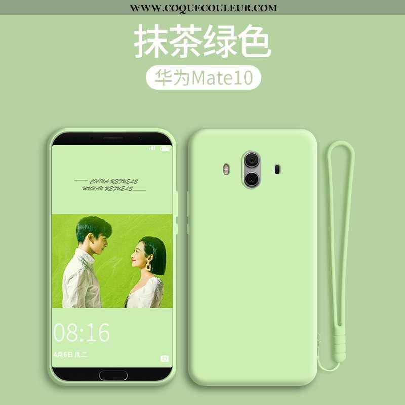 Coque Huawei Mate 10 Protection Vert Silicone, Housse Huawei Mate 10 Délavé En Daim Incassable Verte