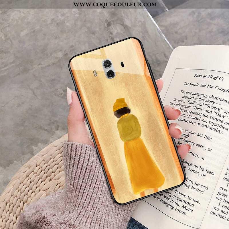 Étui Huawei Mate 10 Personnalité Net Rouge Amoureux, Coque Huawei Mate 10 Créatif Légère Jaune