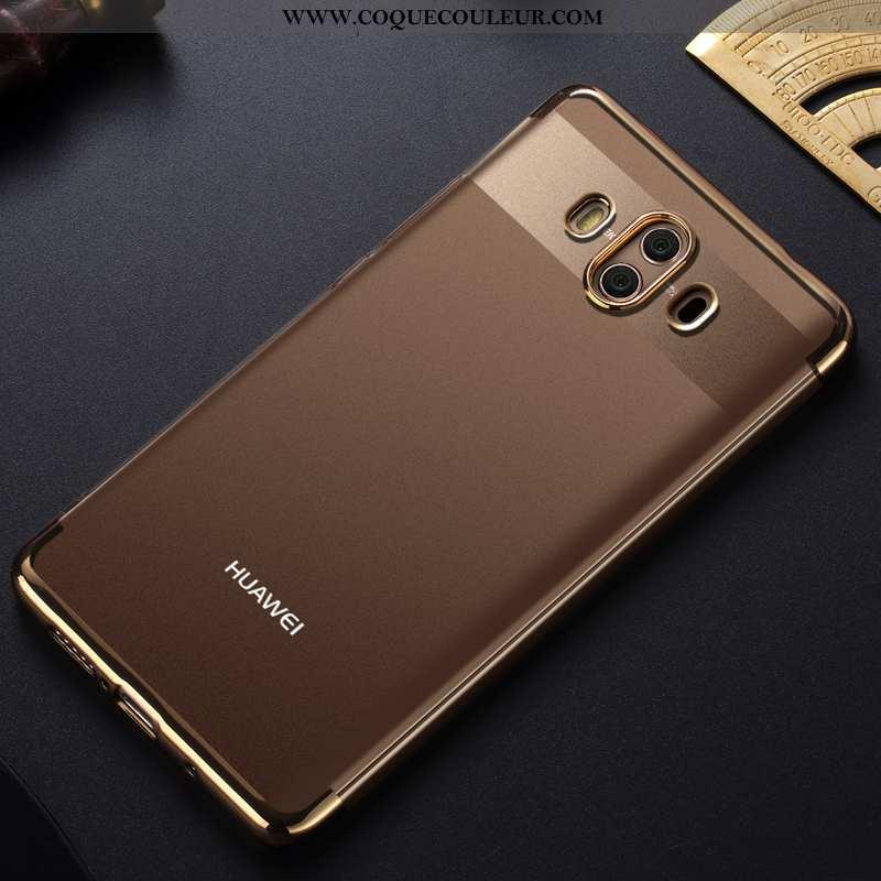 Étui Huawei Mate 10 Fluide Doux Transparent Placage, Coque Huawei Mate 10 Protection Téléphone Porta