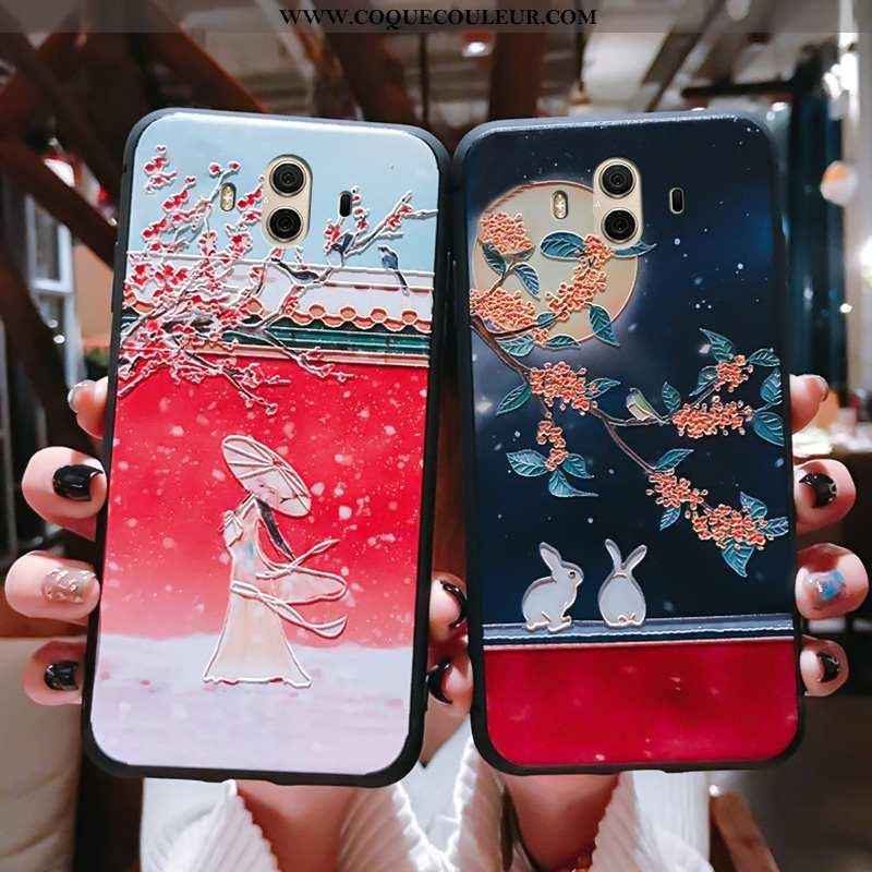Étui Huawei Mate 10 Ultra Fluide Doux Protection, Coque Huawei Mate 10 Tendance Rouge