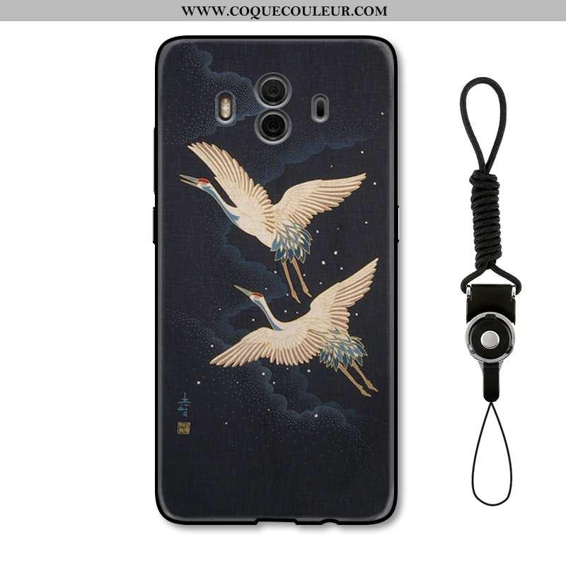 Étui Huawei Mate 10 Protection Squid Nouveau, Coque Huawei Mate 10 Créatif Blanc Noir