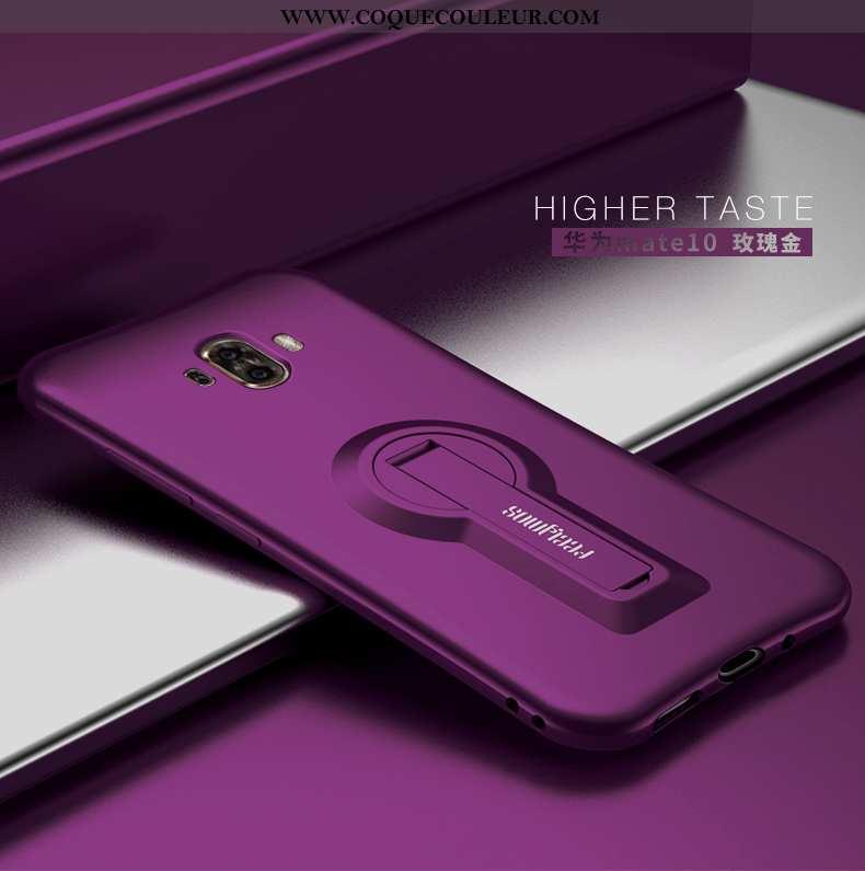 Coque Huawei Mate 10 Personnalité Légère, Housse Huawei Mate 10 Créatif Silicone Violet