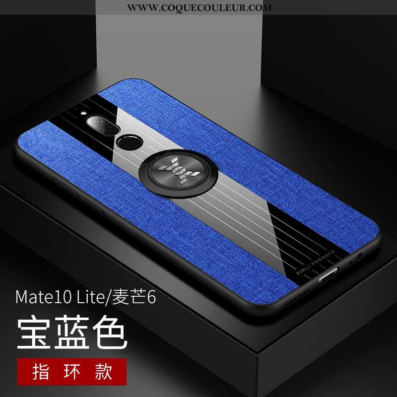 Housse Huawei Mate 10 Lite Silicone Fluide Doux Bleu, Étui Huawei Mate 10 Lite Délavé En Daim Modèle