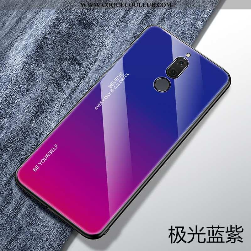 Housse Huawei Mate 10 Lite Protection Tendance Ultra, Étui Huawei Mate 10 Lite Verre Créatif Bleu