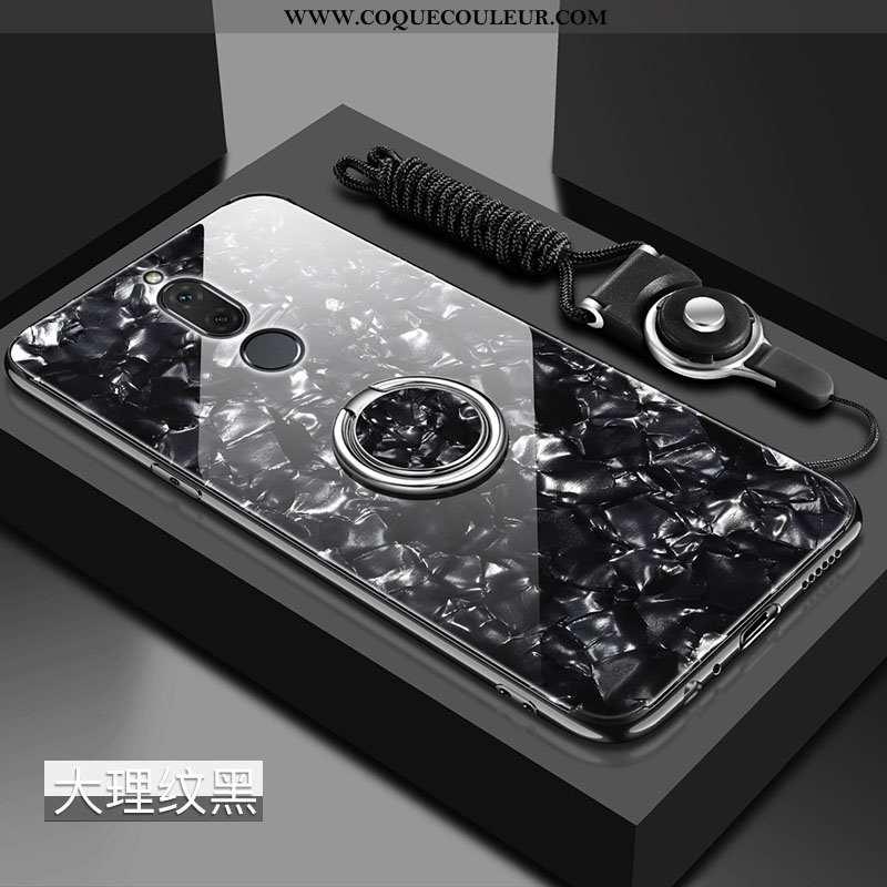 Étui Huawei Mate 10 Lite Tendance Net Rouge, Coque Huawei Mate 10 Lite Fluide Doux Difficile Noir