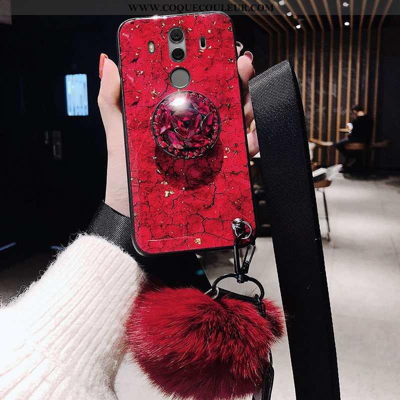 Étui Huawei Mate 10 Pro Fluide Doux Incassable, Coque Huawei Mate 10 Pro Silicone Protection Rouge
