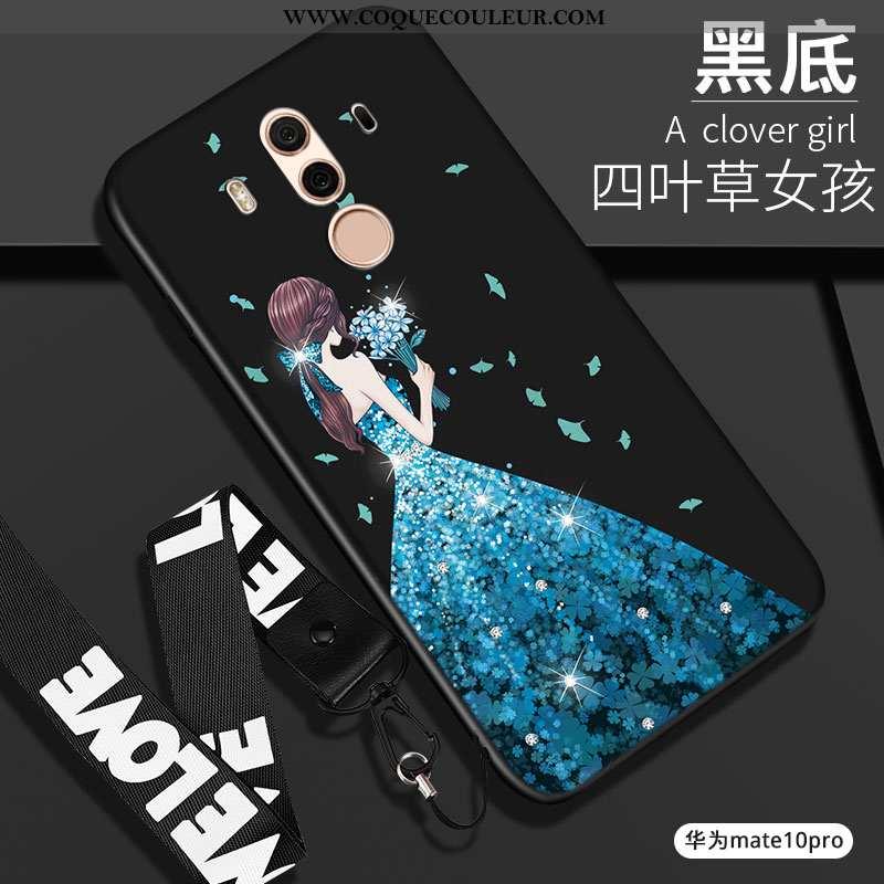 Étui Huawei Mate 10 Pro Silicone Tout Compris, Coque Huawei Mate 10 Pro Protection Noir