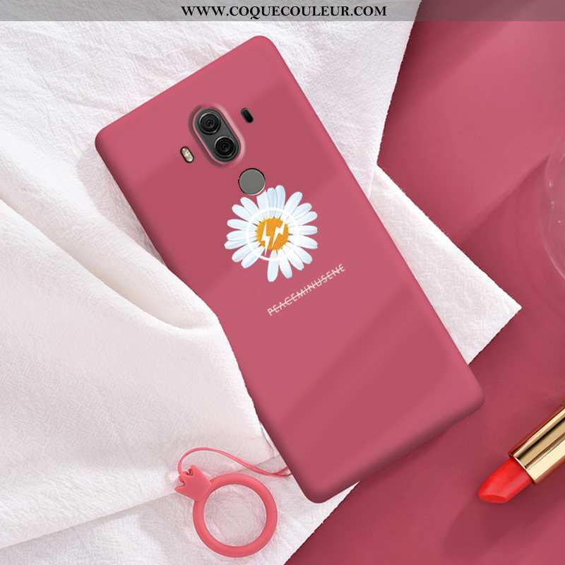 Coque Huawei Mate 10 Pro Silicone Rouge Simple, Housse Huawei Mate 10 Pro Personnalité Téléphone Por